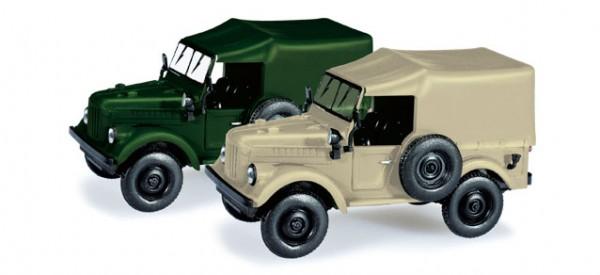 """Herpa-Fahrzeugmodell, 066037 PKW/Geländewagen, """"GAZ 69"""" - mit Plane"""