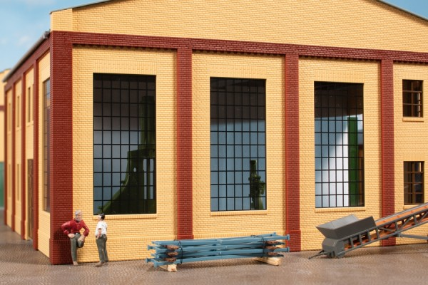 Auhagen 80630 H0-BauKastenSystem / Bauteile: Wände 2578D, Industriefenster P