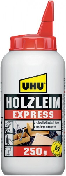 """UHU 48585 UHU - Holzleim, """"Express"""" (250 g - Flasche)"""