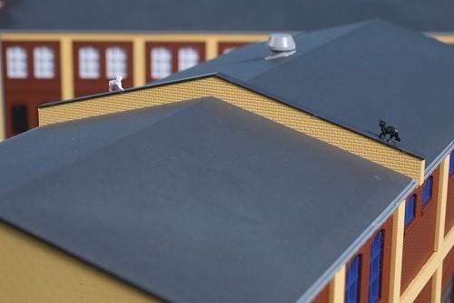 Auhagen 80419 H0-BauKastenSystem / Bauteile: Brandschutzmauern gelb