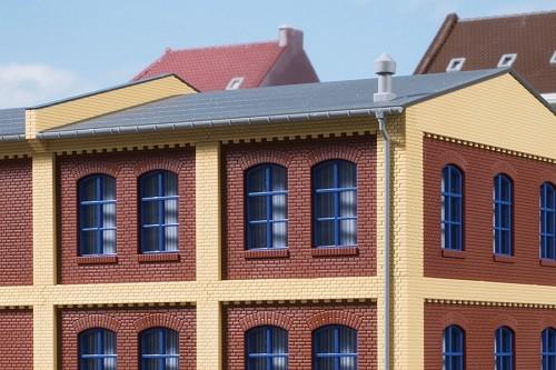 Auhagen 80217 H0-BauKastenSystem / Bauteile: Fenster blau