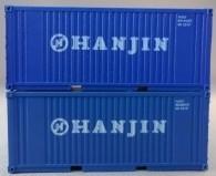 """PSK 6921 TT-Ladegüter, 2-teiliges Container Set bestehen aus 20ft Container von """"Hanjin"""""""