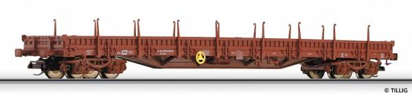Tillig 15571 TT-Niederbordwagen mit Rungen Ep. V, eingestellt bei der CD