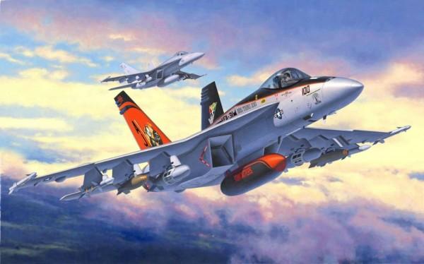 "Revell-Flugzeugmodell, 63997 Modell-Set mit ""F/A-18 E Super Hornet"""
