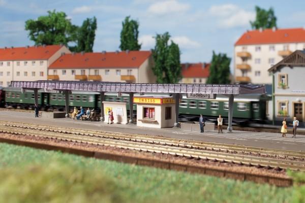 Auhagen 14459 N-(Modellbausatz)/Ausgestaltung, Bahnsteig