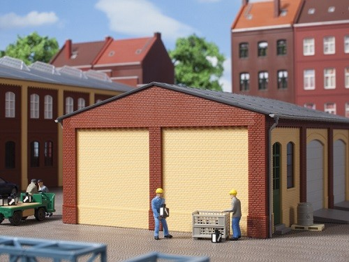 Auhagen 80406 H0-BauKastenSystem / Bauteile: Giebel und Ecksäulen kurz rot