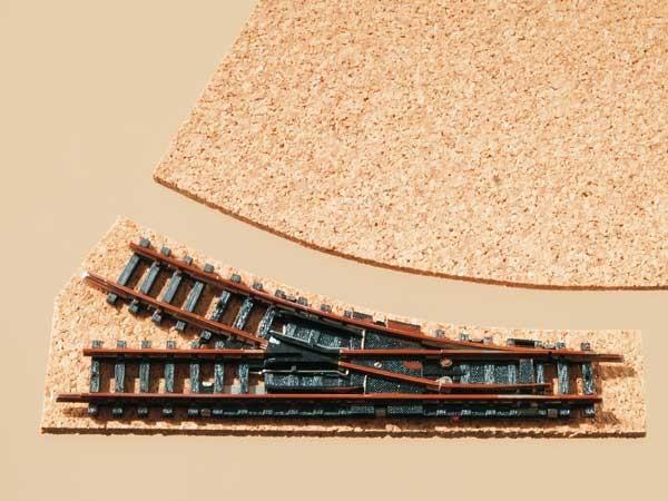 Auhagen 44581 N-Gleisbau, Korkgleisbettung für Weichen