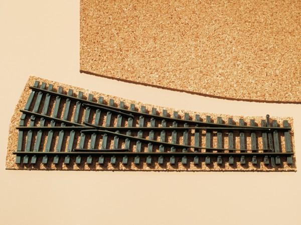 Auhagen 41179 H0-Gleisbau, Korkgleisbettung für Weichen