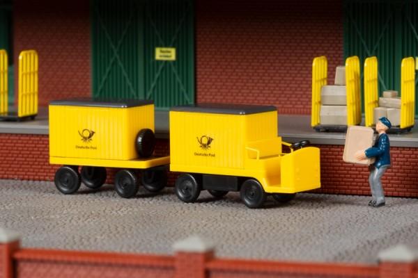 "Auhagen 43663 TT-Fahrzeug-Modell, ""Elektrokarren"" mit Anhänger"
