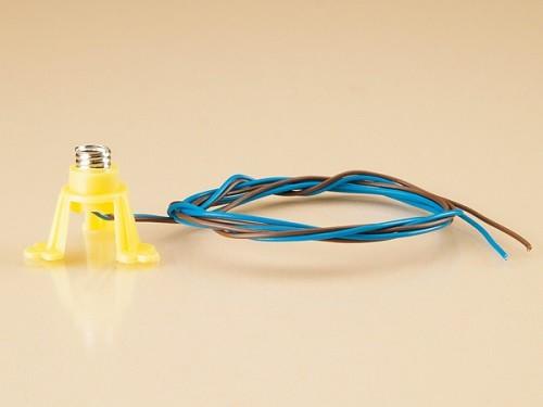 Auhagen 58791 1-Beleuchtungssockel (Kunststoff) E5,5 mit Kabel