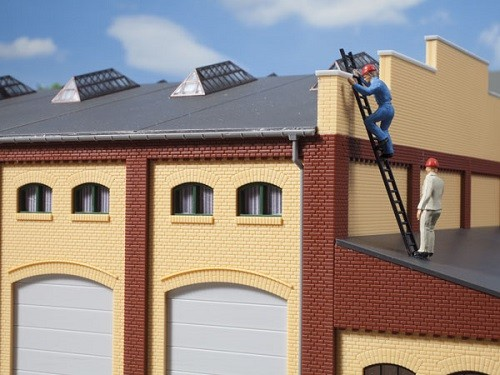 Auhagen 80216 H0-BauKastenSystem / Bauteile: Fenster M grün