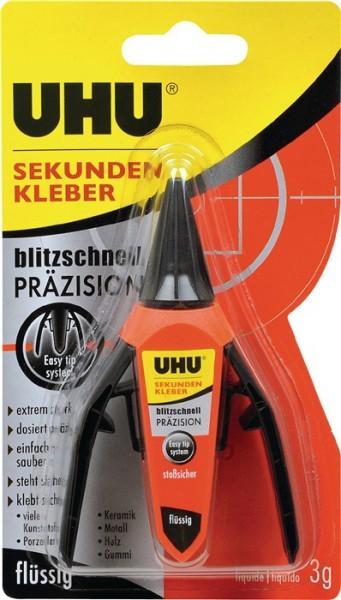 """UHU 48700 UHU - Sekundenkleber, """"blitzschnell"""" Präzision (3g)"""