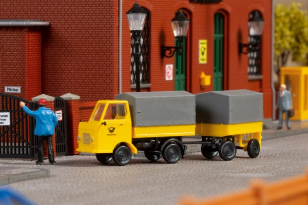 "Auhagen 43662 TT-Fahrzeug-Modell, ""Multicar M22 Post mit Anhänger"""