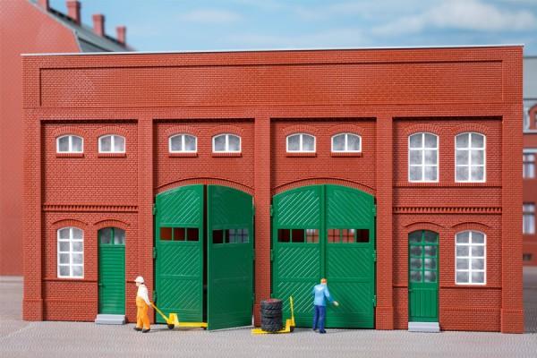 Auhagen 80529 H0-BauKastenSystem / Bauteile: Wände 2391G rot, Tore L (je 2 x Holztore & Rolltore)