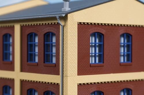 Auhagen 80415 H0-BauKastenSystem / Bauteile: Ecksäulen Obergeschoss gelb