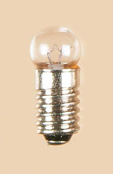 Auhagen 56760 1-Kleinstglühlampe mit Schraubsockel, E5,5 (3,5V), klar / Kugel