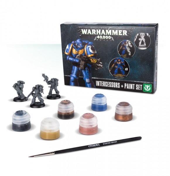 Games Workshop 99 17 01 01 004 Warhammer 40000 Intergessors + Paint Set