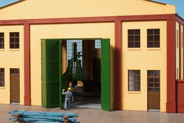 Auhagen 80633 H0-BauKastenSystem / Bauteile: Wände 2579A gelb, Tore T grün