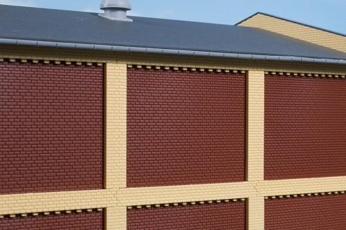 Auhagen 80417 H0-BauKastenSystem / Bauteile: Säulen Obergeschoss und Ziegelfriese gelb