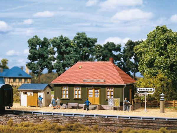 "Auhagen 11407 H0-Modellbausatz, ""Haltepunkt - Borsdorf"""
