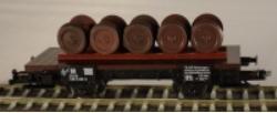PSK 1744 TT-Flachwagen beladen mit Radsätzen Ep. IV, eingestellt bei der DR