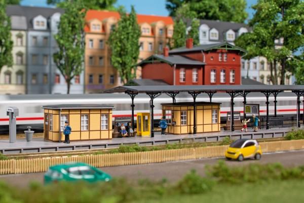 Auhagen 14484 N-(Modellbausatz)/Ausgestallung, Bahnhofsausstattung, ab der Epoche II