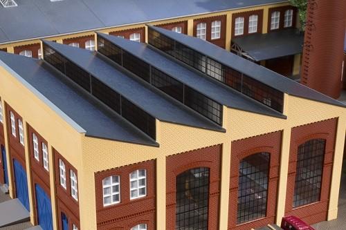 Auhagen 80309 H0-BauKastenSystem / Bauteile: Sheddach gelb
