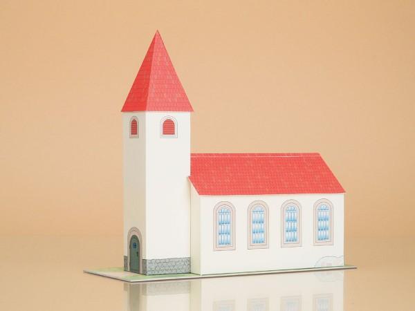 """Auhagen 10601 H0/TT Karton-Bausatz """"Kirche"""""""