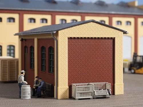 Auhagen 80413 H0-BauKastenSystem / Bauteile: Giebel klein und Ecksäulen kurz gelb