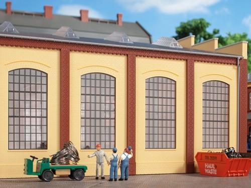 Auhagen 80609 H0-BauKastenSystem / Bauteile: Wände 2342N gelb, Industriefenster E