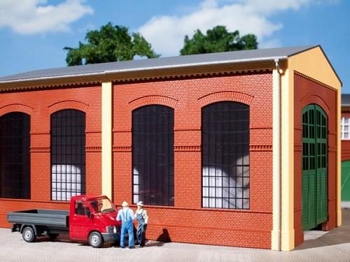Auhagen 80504 H0-BauKastenSystem / Bauteile: Wände 2326B rot, Industriefenster E