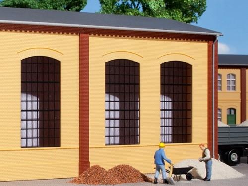 Auhagen 80603 H0-BauKastenSystem / Bauteile: Wände 2325A gelb, Industriefenster E