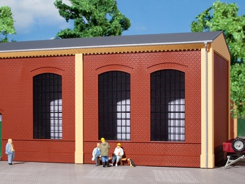Auhagen 80503 H0-BauKastenSystem / Bauteile: Wände 2325A rot, Industriefenster E