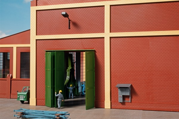 Auhagen 80533 H0-BauKastenSystem / Bauteile: Wände 2579A, Tore T grün