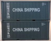 """PSK 6927 TT-Ladegüter, 2-teiliges Container Set bestehen aus 20ft Container von """"China Shipping"""""""