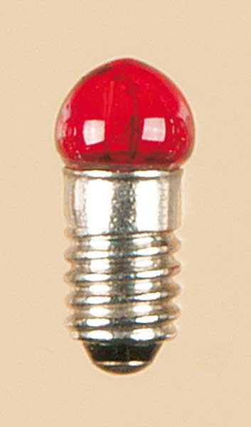 Auhagen 56781 1-Kleinstglühlampe mit Schraubsockel, E5,5 (19V), rot / Kugel