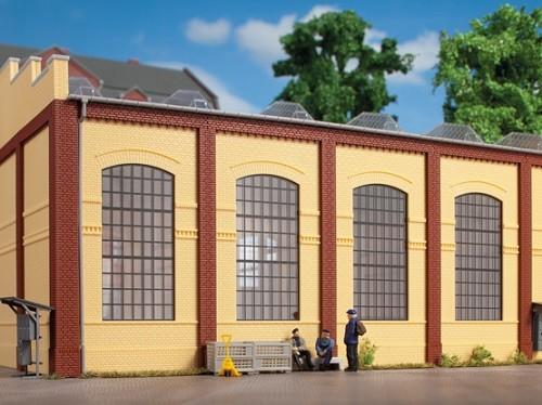 Auhagen 80610 H0-BauKastenSystem / Bauteile: Wände 2342J gelb, Industriefenster E