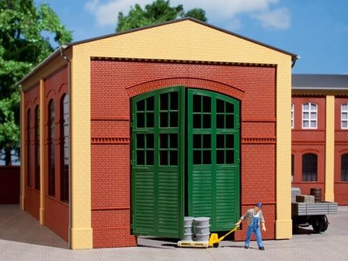 Auhagen 80505 H0-BauKastenSystem / Bauteile: Wände 2326A rot, Tore grün I