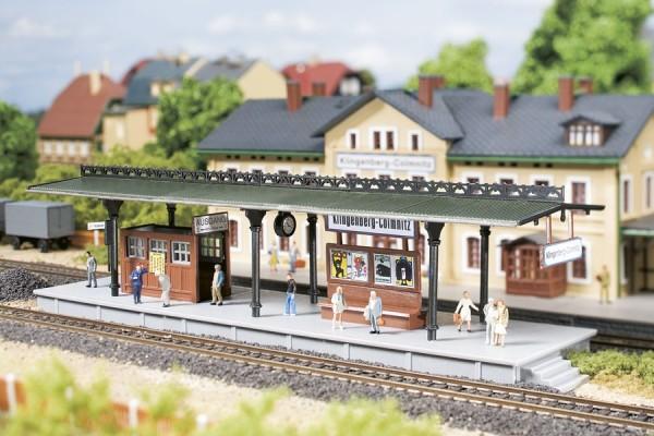 Auhagen 13221 TT-Modellb(Modellbausatz)/Ausgestaltung, Bahnsteig
