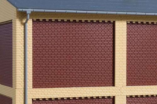 Auhagen 80526 H0-BauKastenSystem / Bauteile: Wände 2532D rot