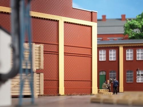 Auhagen 80512 H0-BauKastenSystem / Bauteile: Wände 2342I rot