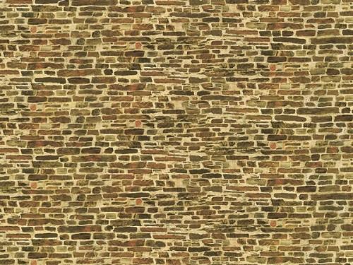"""Auhagen 50516 H0/TT 1-Dekorpappen """"Kalksteinmauer"""", klein"""