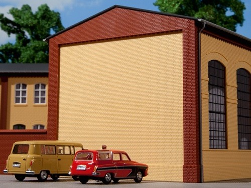 Auhagen 80400 H0-BauKastenSystem / Bauteile: Giebel und Ecksäulen rot