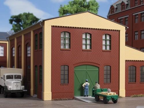 Auhagen 80518 H0-BauKastenSystem / Bauteile: Wände 2391A rot, Industriefenster L