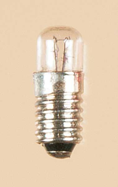 Auhagen 55750 1-Kleinstglühlampe mit Schraubsockel, E5,5 (16V), klar / Zylinder
