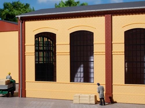 Auhagen 80604 H0-BauKastenSystem / Bauteile: Wände 2326B gelb, Industriefenster E