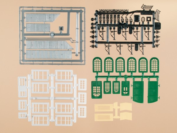 Auhagen 48551 H0/TT-Bauteile: Bastelset für Industriegebäude