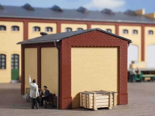 Auhagen 80412 H0-BauKastenSystem / Bauteile: Giebel klein und Ecksäulen kurz rot