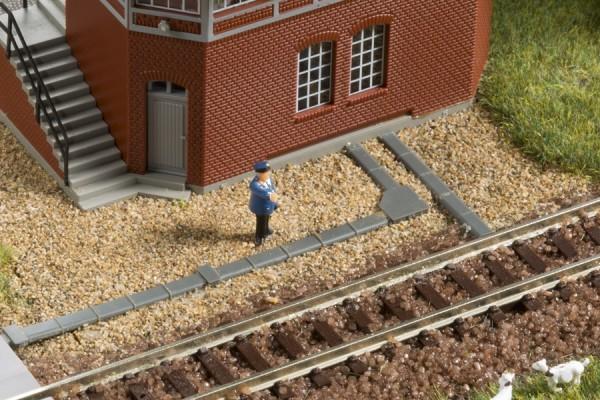 Auhagen 44646 N-Gleisbau, Abdeck- u. Umlenkkästen für Drahtzüge