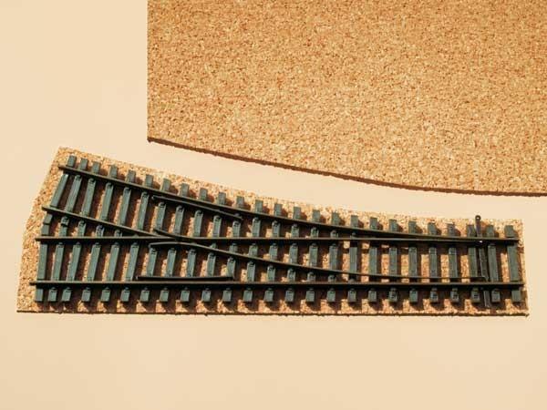 Auhagen 43580 TT-Gleisbau, Korkgleisbettung für Weichen